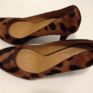 8.5 Brooks Bros Leopard Print Heels Pumps Shoes EU